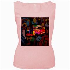Hippie van  Women s Pink Tank Top