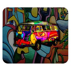Hippie van  Double Sided Flano Blanket (Small)