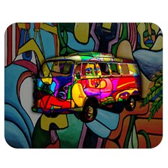 Hippie van  Double Sided Flano Blanket (Medium)