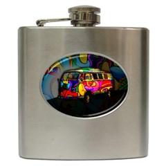 Hippie van  Hip Flask (6 oz)