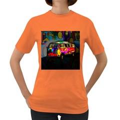 Hippie van  Women s Dark T-Shirt