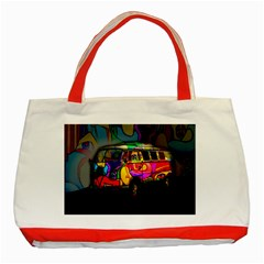 Hippie van  Classic Tote Bag (Red)