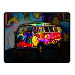 Hippie van  Fleece Blanket (Small)