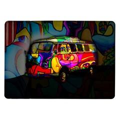 Hippie van  Samsung Galaxy Tab 10.1  P7500 Flip Case