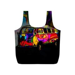 Hippie van  Full Print Recycle Bags (S)
