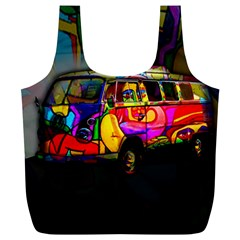 Hippie van  Full Print Recycle Bags (L)