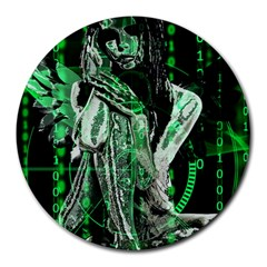Cyber angel Round Mousepads