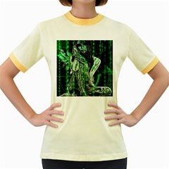 Cyber angel Women s Fitted Ringer T-Shirts
