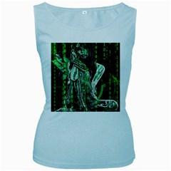 Cyber angel Women s Baby Blue Tank Top