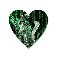 Cyber angel Heart Magnet