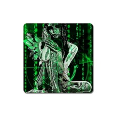 Cyber angel Square Magnet