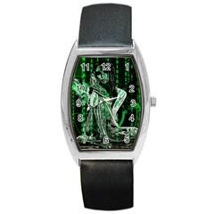Cyber angel Barrel Style Metal Watch