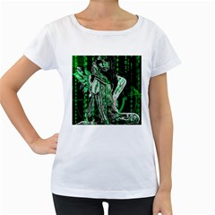 Cyber angel Women s Loose-Fit T-Shirt (White)