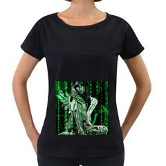 Cyber angel Women s Loose-Fit T-Shirt (Black)