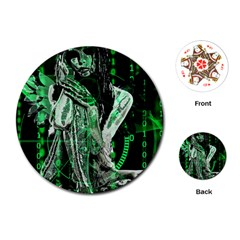 Cyber angel Playing Cards (Round)