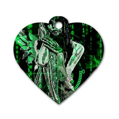 Cyber angel Dog Tag Heart (Two Sides)