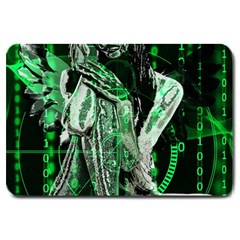 Cyber angel Large Doormat