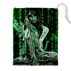 Cyber Angel Drawstring Pouches (xxl)