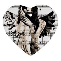 Vintage angel Ornament (Heart)