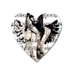 Vintage angel Heart Magnet