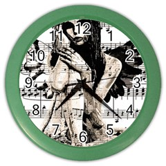 Vintage angel Color Wall Clocks