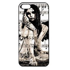 Vintage angel Apple iPhone 5 Seamless Case (Black)