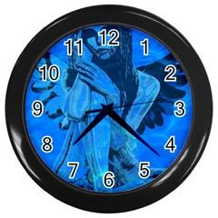 Underwater angel Wall Clocks (Black)