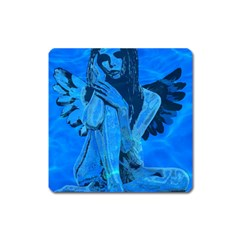 Underwater angel Square Magnet