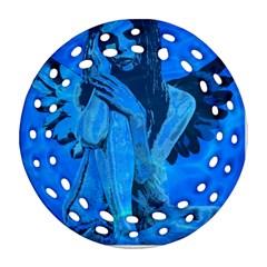 Underwater angel Ornament (Round Filigree)