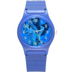 Underwater angel Round Plastic Sport Watch (S)