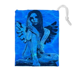 Underwater angel Drawstring Pouches (Extra Large)