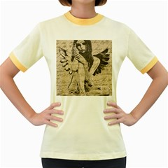 Vintage angel Women s Fitted Ringer T-Shirts