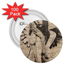 Vintage angel 2.25  Buttons (100 pack)