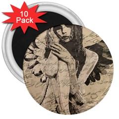 Vintage angel 3  Magnets (10 pack)
