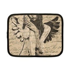 Vintage angel Netbook Case (Small)