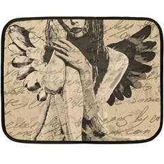 Vintage angel Fleece Blanket (Mini)