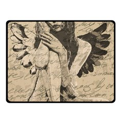 Vintage angel Double Sided Fleece Blanket (Small)