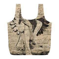 Vintage angel Full Print Recycle Bags (L)