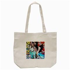 Graffiti angel Tote Bag (Cream)