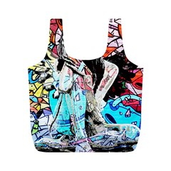 Graffiti angel Full Print Recycle Bags (M)