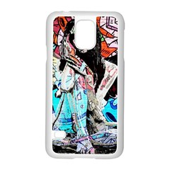 Graffiti angel Samsung Galaxy S5 Case (White)