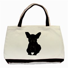Bulldog Basic Tote Bag (Two Sides)