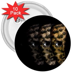 Wild child 3  Buttons (10 pack)