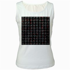Chinese characters Women s White Tank Top