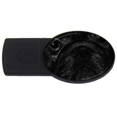 Black bulldog USB Flash Drive Oval (2 GB)