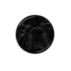 Black bulldog Hat Clip Ball Marker (4 pack)