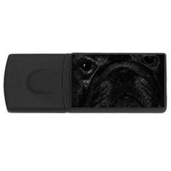 Black bulldog USB Flash Drive Rectangular (4 GB)