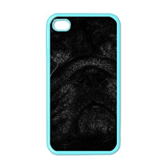 Black bulldog Apple iPhone 4 Case (Color)
