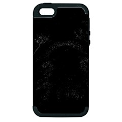 Black bulldog Apple iPhone 5 Hardshell Case (PC+Silicone)