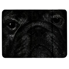 Black bulldog Samsung Galaxy Tab 7  P1000 Flip Case